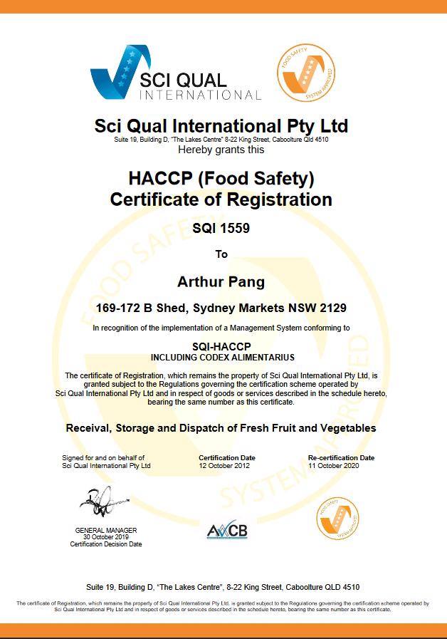 HACCP Exp OCT 20