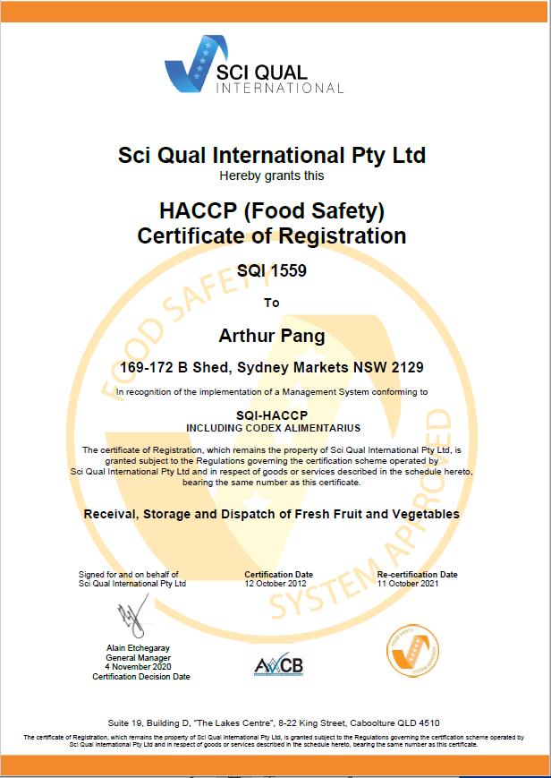 HACCP Exp 21